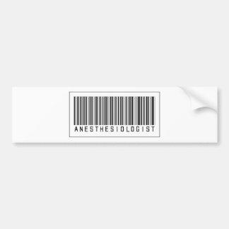 Barcode Anesthesiologist Bumper Sticker