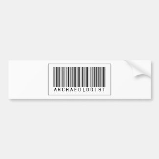 Barcode Archaeologist Bumper Stickers
