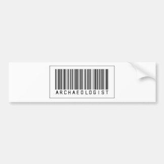 Barcode Archaeologist Car Bumper Sticker