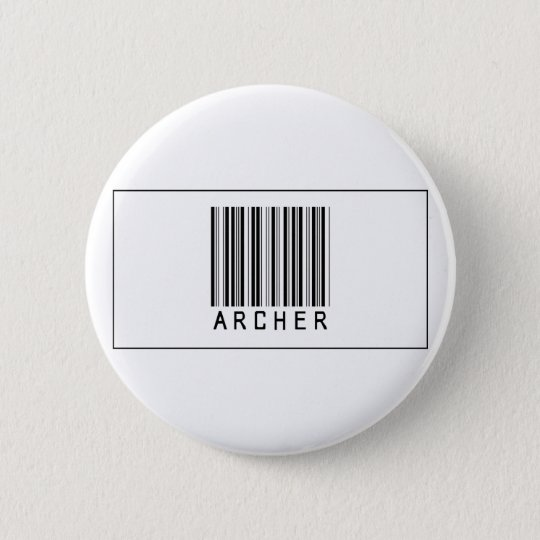 Barcode Archer 6 Cm Round Badge