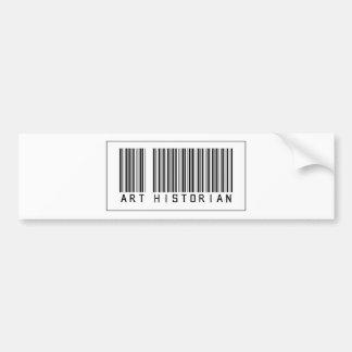 Barcode Art Historian Bumper Sticker