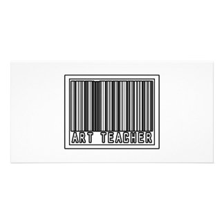 Barcode Art Teacher Personalised Photo Card