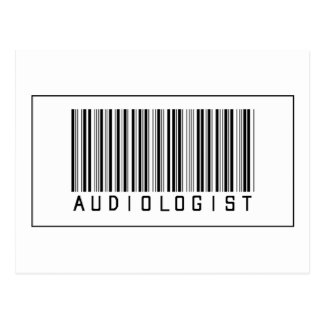 Barcode Audiologist Post Card