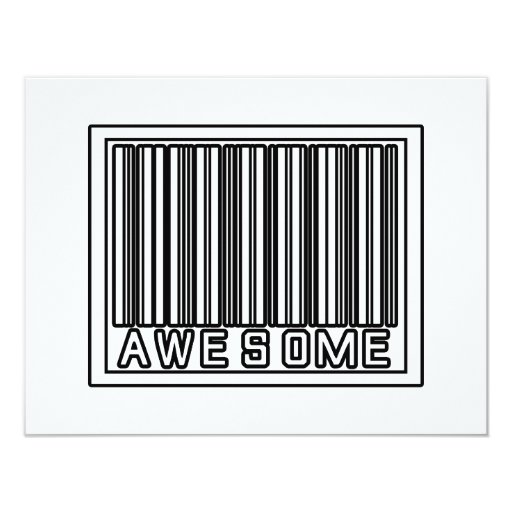 Barcode Awesome 11 Cm X 14 Cm Invitation Card