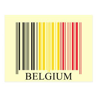 Barcode Belgium Flag Postcard