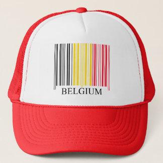 Barcode Belgium Flag Trucker Hat