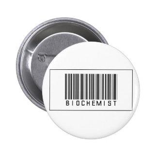 Barcode Biochemist Pinback Button