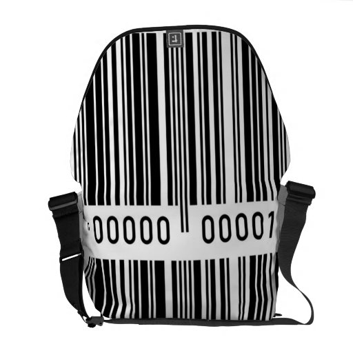 Barcode black and white bag courier bags