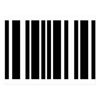 barcode black stripes post cards
