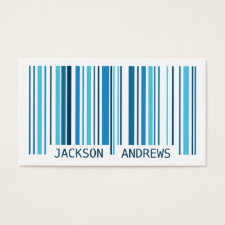 Barcode - Blue Business Card