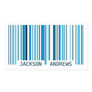 Barcode - Blue Pack Of Standard Business Cards