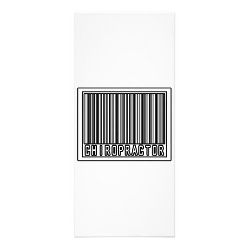 Barcode Chiropractor Personalized Rack Card