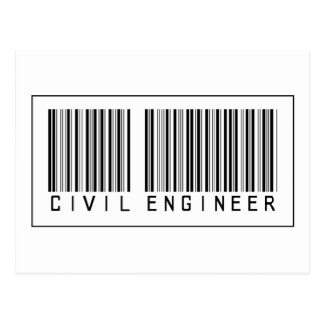 Barcode Civil Engineer Postcard