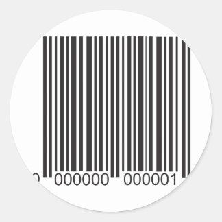 Barcode Classic Round Sticker