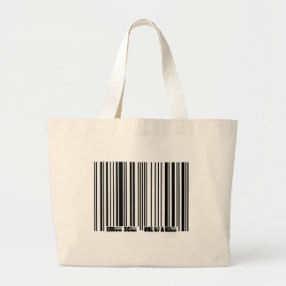 barcode copy large tote bag