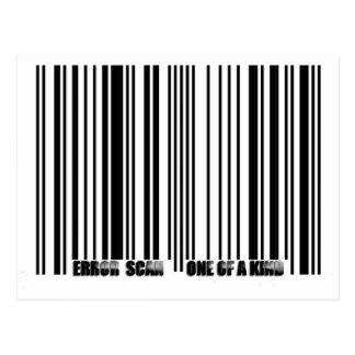 barcode copy postcard