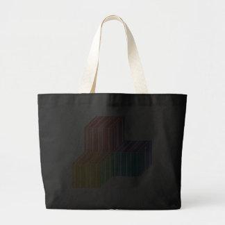 Barcode Cube Trinity Black Jumbo Tote Bag