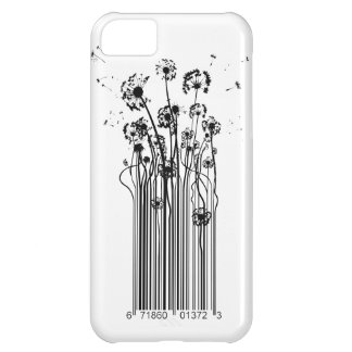 Barcode Dandelion Silhouette iphone cover