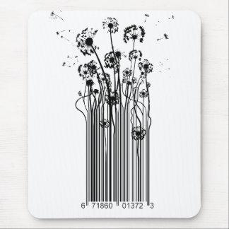 Barcode Dandelion Silhouette mouse mat