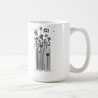 Barcode Dandelion Silhouette Mug