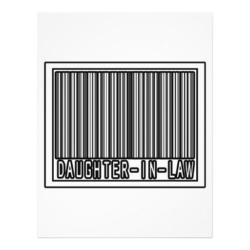 Barcode Daughter-In-Law Custom Flyer