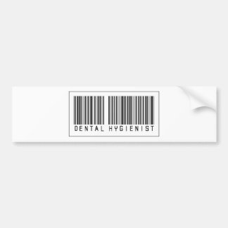 Barcode Dental Hygienist Car Bumper Sticker