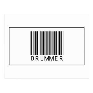Barcode Drummer Post Cards
