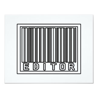 Barcode Editor 11 Cm X 14 Cm Invitation Card