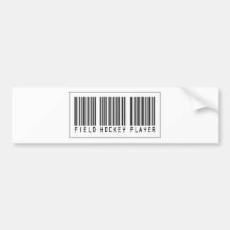 Barcode Field Hockey Player Bumper Sticker