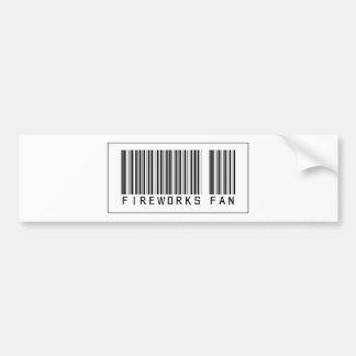 Barcode Fireworks Fan Bumper Stickers