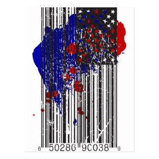 Barcode Flag Postcard