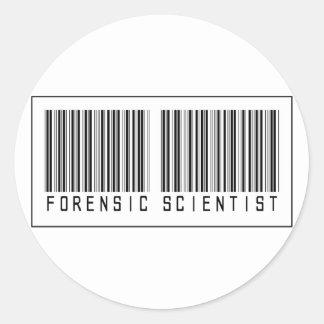 Barcode Forensic Scientist Classic Round Sticker