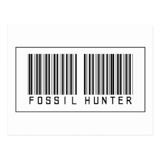 Barcode Fossil Hunter Post Cards