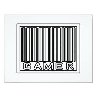 Barcode Gamer 11 Cm X 14 Cm Invitation Card