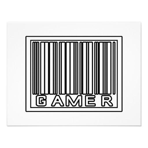 Barcode Gamer Personalised Invite