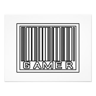 Barcode Gamer Personalized Announcement