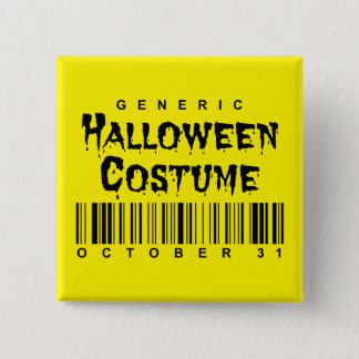 Barcode Generic Halloween Costume 15 Cm Square Badge