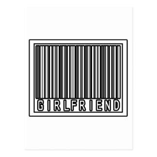 Barcode Girlfriend Postcard