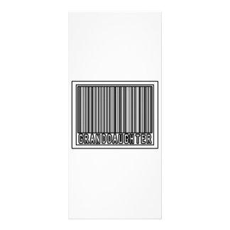 Barcode Granddaughter Customized Rack Card