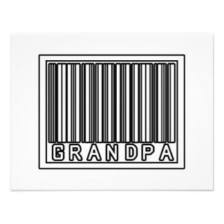 Barcode Grandpa Personalized Invites