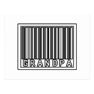 Barcode Grandpa Post Card