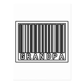 Barcode Grandpa Postcard