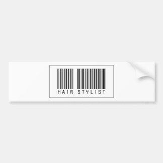 Barcode Hair Stylist Car Bumper Sticker