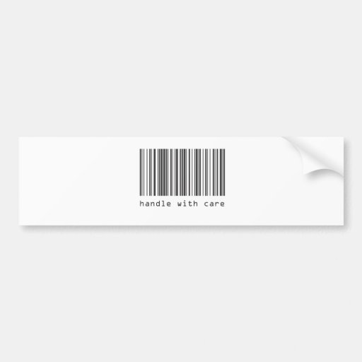 Barcode - Handle With Care Bumper Sticker