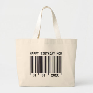 Barcode Happy Birthday Jumbo Tote Bag