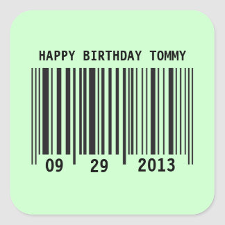 Barcode Happy Birthday sticker