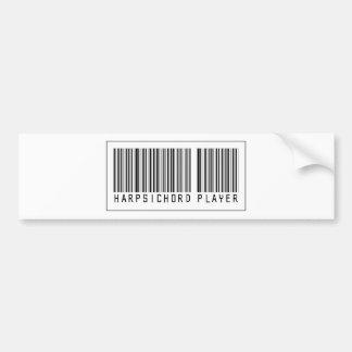 Barcode Harpsichord Player Bumper Sticker