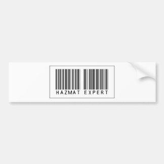 Barcode Hazmat Expert Bumper Sticker