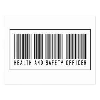 Barcode Health and Safety Officer Postcard