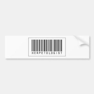 Barcode Herpetologist Bumper Sticker